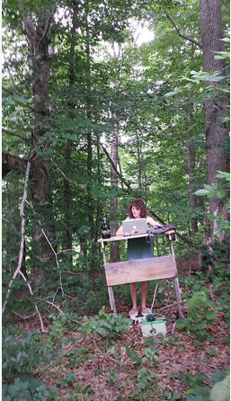 This is actually a picture of my sister, Shannon Duncan, doing her SEO job in the forest using a car battery and a homemade stepper for exercise. I'll just let that sit for a bit.